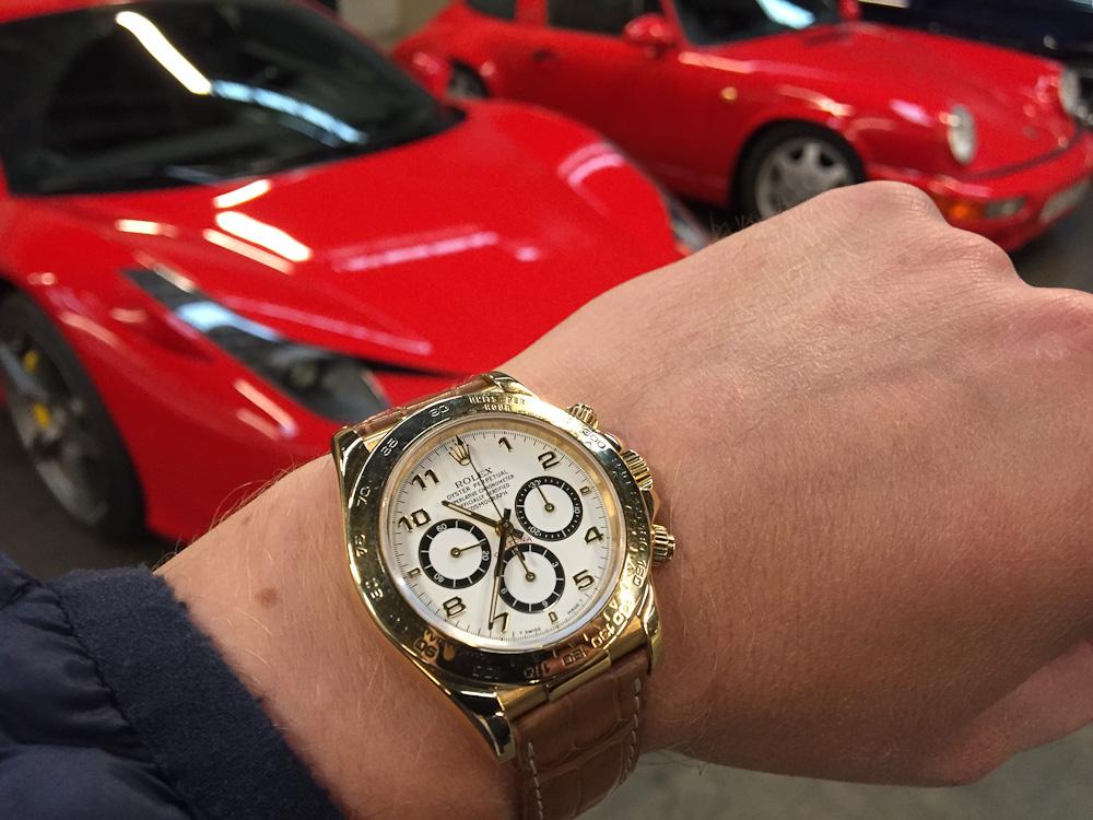Der var den igen. Klokken altså. Fra Rolex.