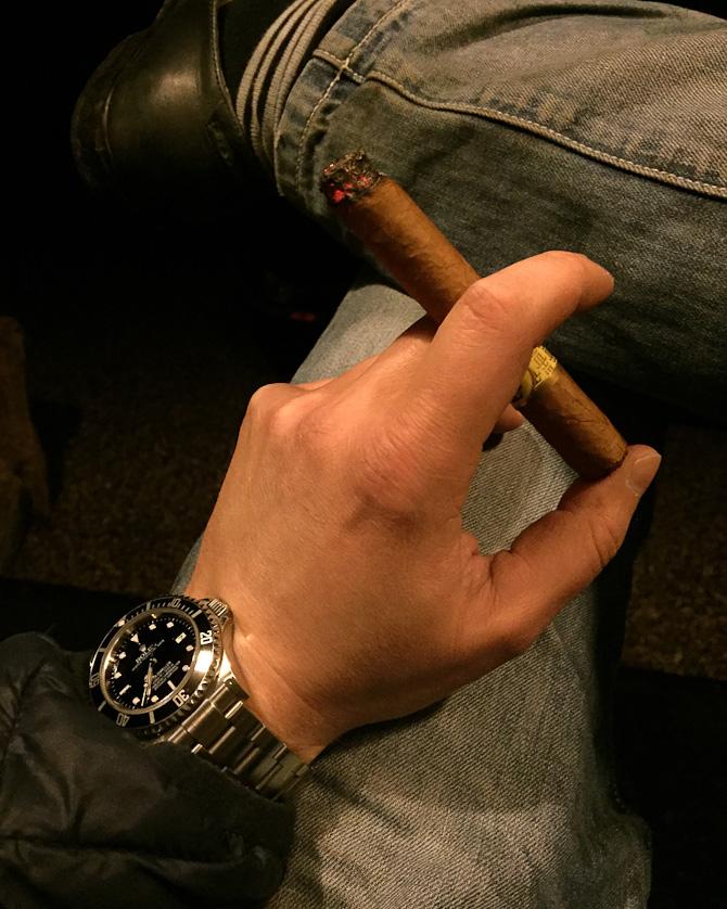 Morten Rask med røgvarer