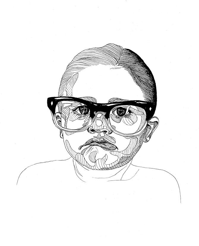 Dreng med briller