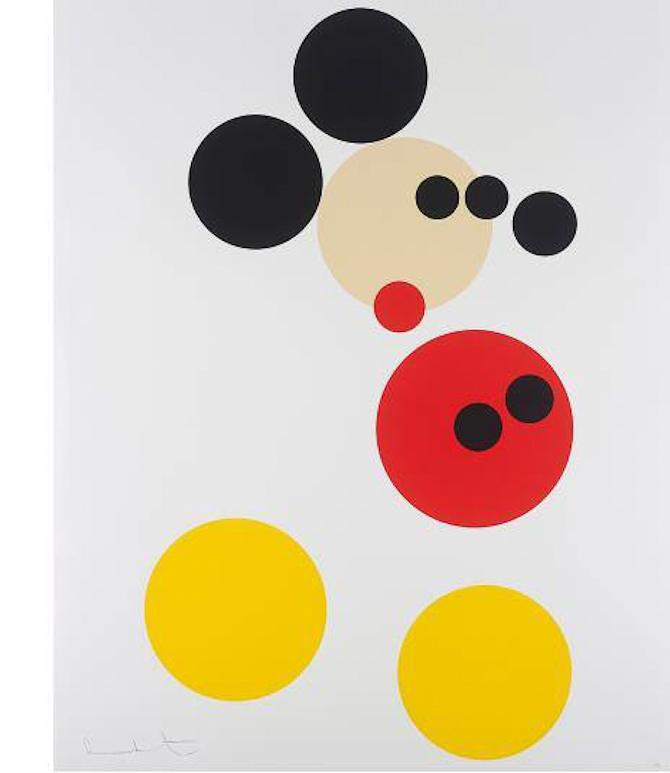 12 prikker giver Mickey.