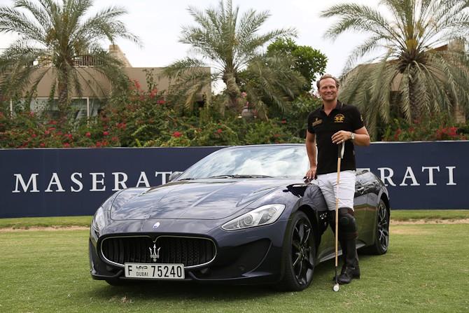 Ebe Sievwright wearing the 24k Gold Dubai Polo