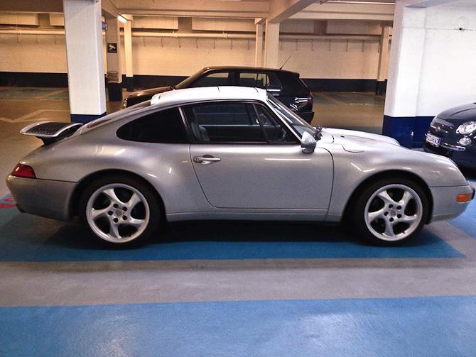 Dagens vogn i skysovs - en Porsche 911 model 993 #ku-i-den-grad-godt