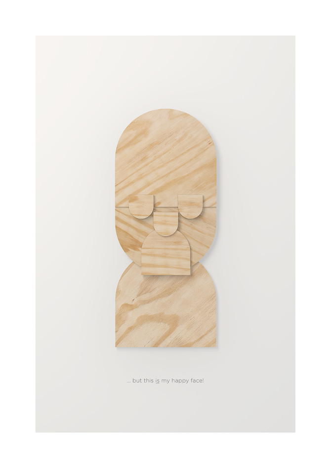 Titel: Plywood Happy Face