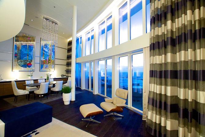En suite i to etager er også en mulighed. Det koster kassen, men det forlyder, at den stort set altid er booket...