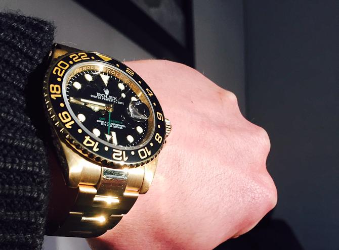 Rene Wacker med Rolex 116718LN