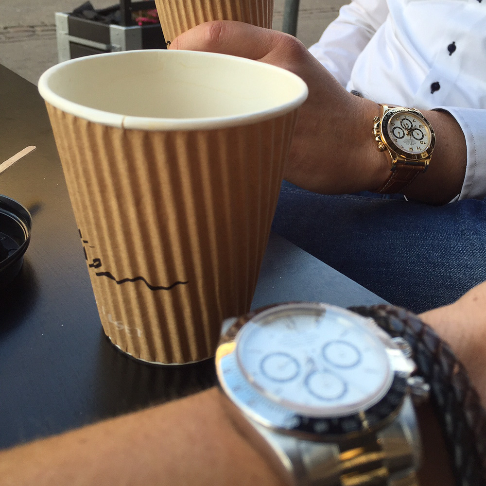 René Wacker til kaffeslabberas