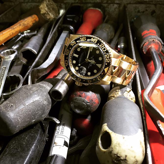 Rene Wacker med værktøj