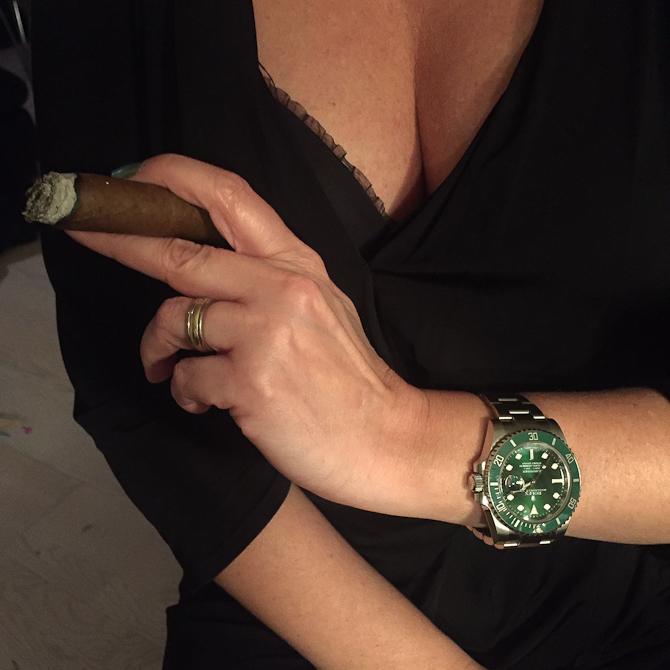 """Rene Wacker med """"Hulk"""" ref. 116610LV, cigarer og baljer"""