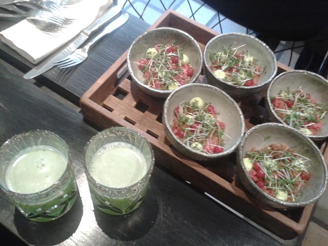 Tatar og cocktail med peberkant...