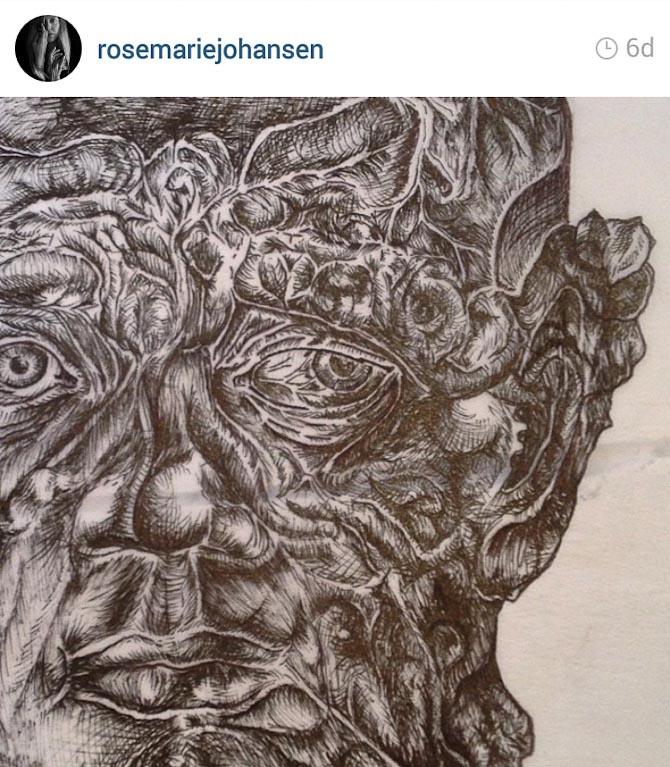 Et skud fra Instagram - af noget der er tegnet i hånden af dagens kvinde.