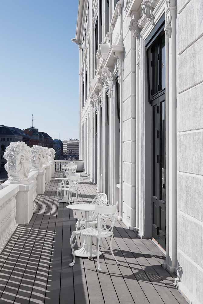 Royal Suite byder på en balkon, hvor festen nemt kan sættes i gang - eller afsluttes...