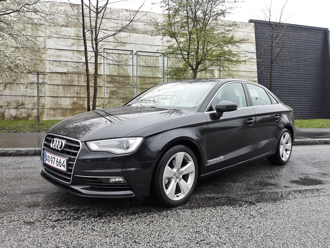 Sidste års flotte vogn - en Audi A3 Limousine