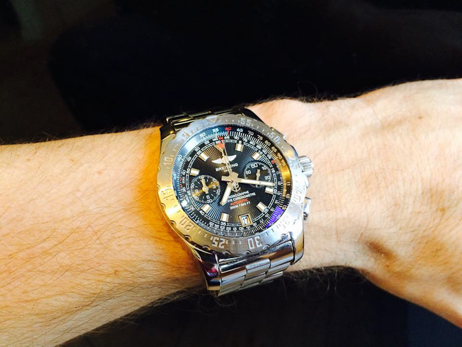 Et ældre Breitling Skyracer - i øvrigt også med chronometer certificering