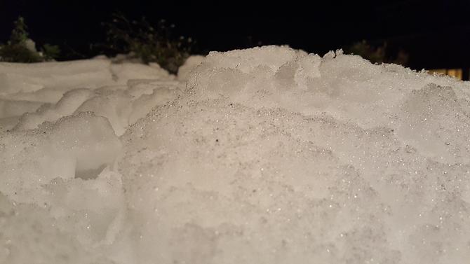 Nordpå lå sneen tungt