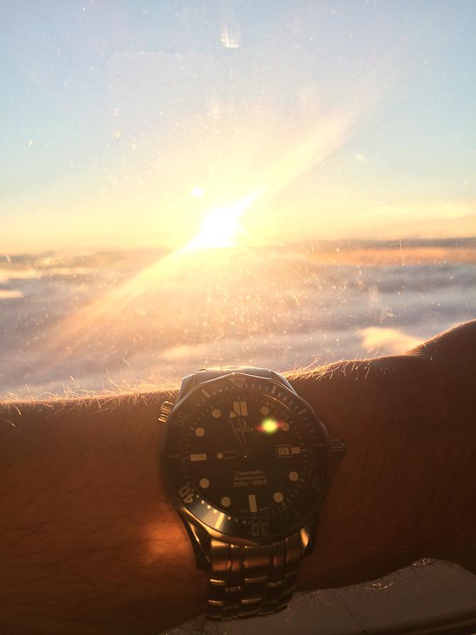 Doktor Hjerpsted med solnedgang