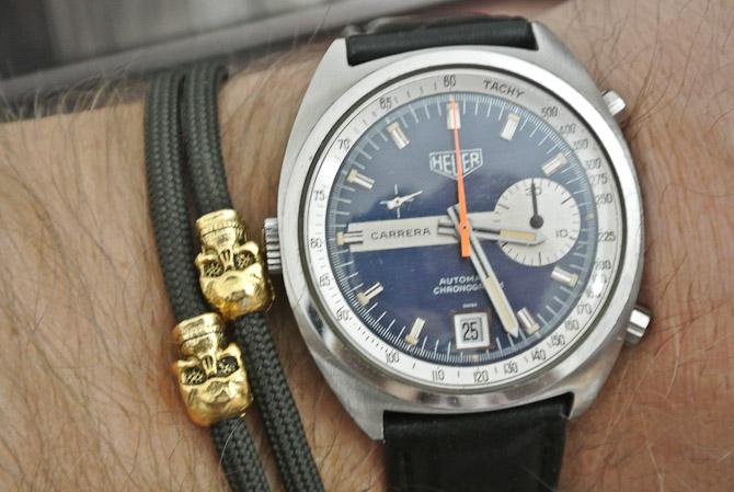 Dagens ur - en Heuer Carrera Chronograph - med eftermonteret Strings sag.