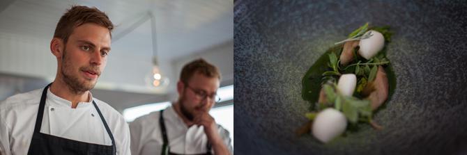 Kokken Rasmus Nørregård og tjener Magnus Høegh Kofoed