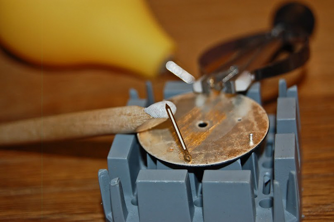 Der fifles med skive og tilpasset rundstok