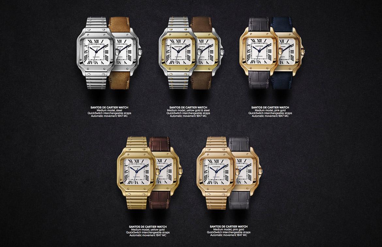 Cartier Santos leather