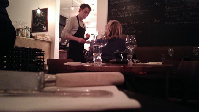På restaurant
