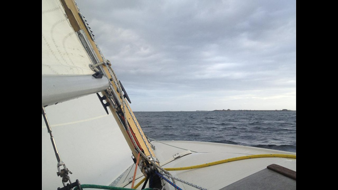 Vind i sejlene hos Mads