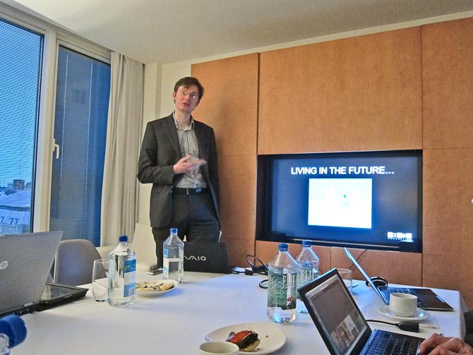 En af redaktørerne fra Wired - Daniel Nye Griffiths - lagde også vejen forbi som gæstetaler...