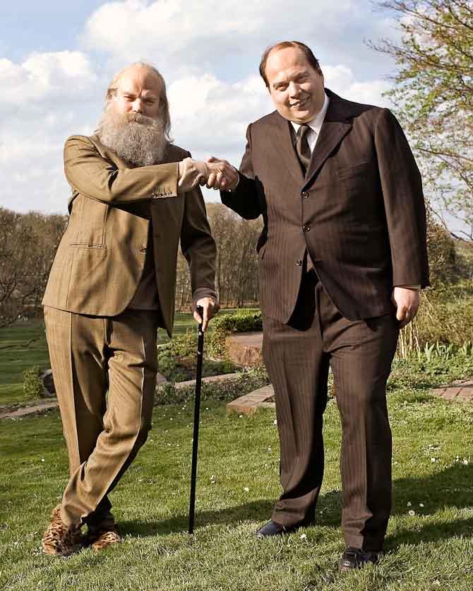 Venner anno gamle dage- Pilou Asbæk og Nicolas Bro som Spies og Glistrup. © Framegrab