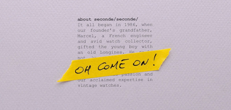 seconde seconde
