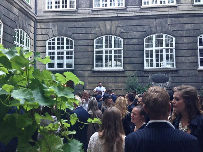 Reception i Rosengården.