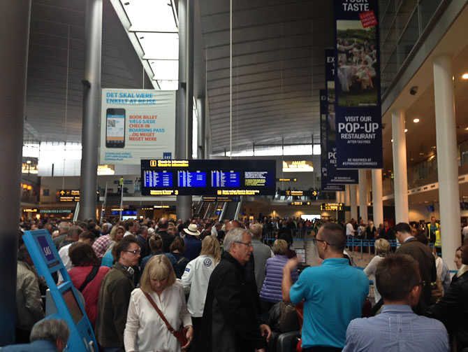Lufthavnen var et stort kaos