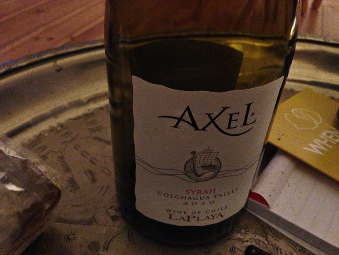 Axel - nu også som drue...