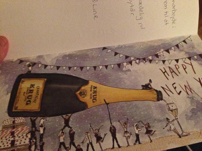 Champagne-pigerne sendte en hilsen.