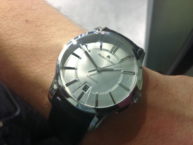 Mikkel havde fået nyt ur. Så fint!