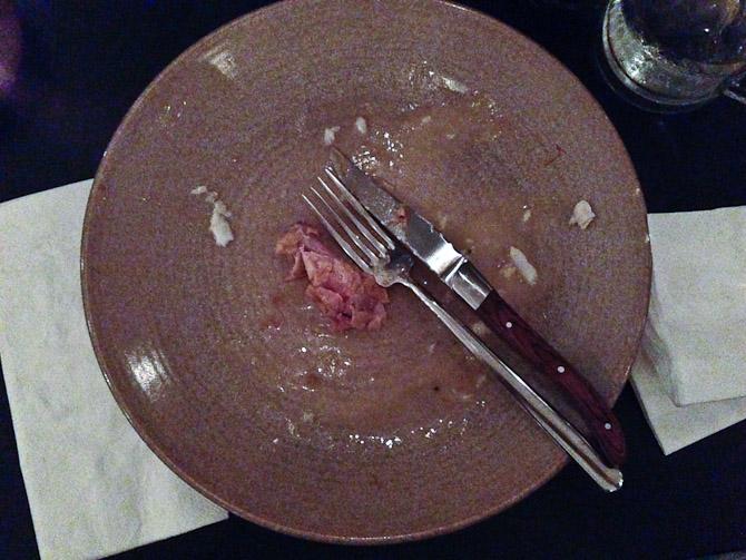 Og vi spiste op.