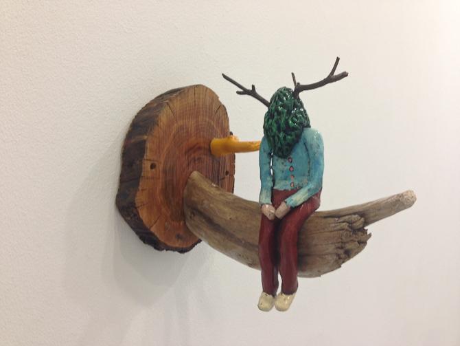 Fin installation spottet hos Galleri Christoffer Egelund