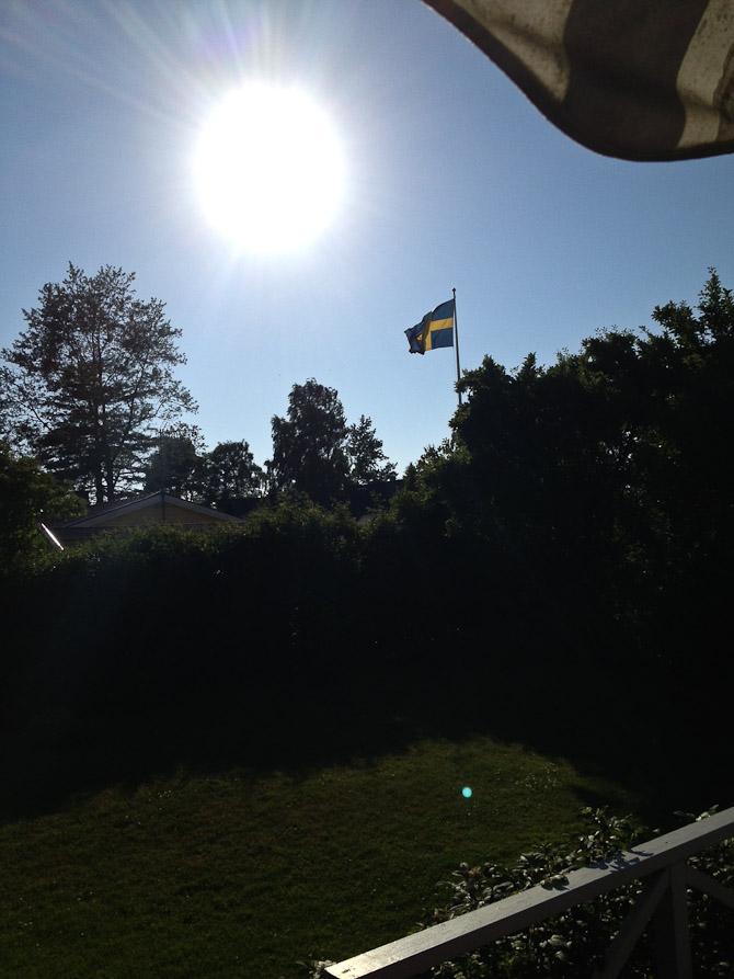 Flag og solskin - endnu en svensk hilsen