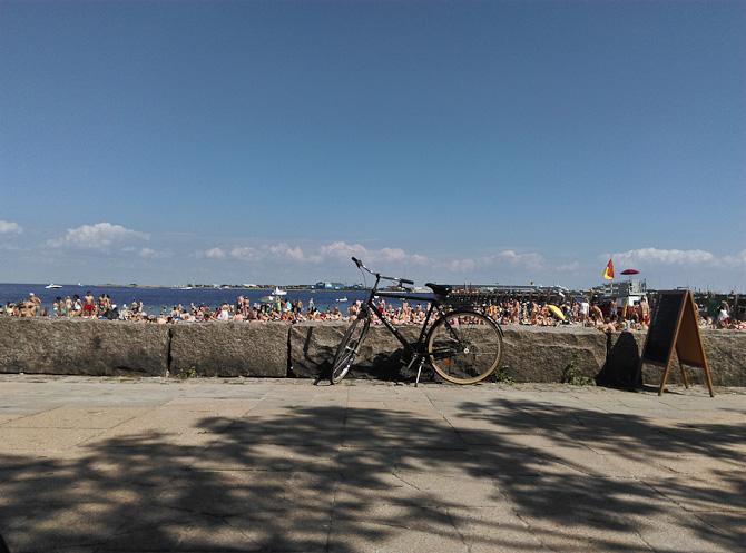 Turen gik til en tætpakket strand. I skyggen.