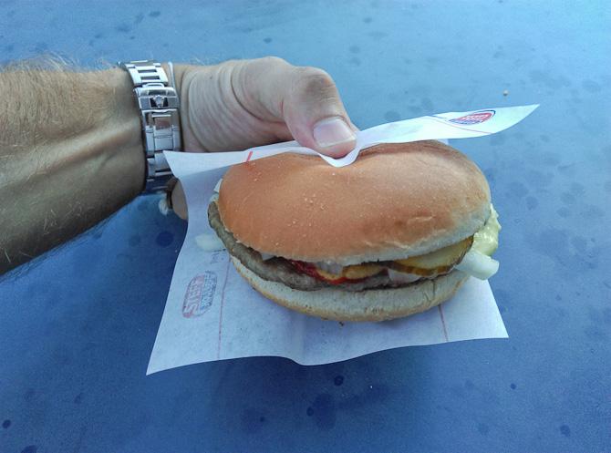 En kvik bøfsandwich