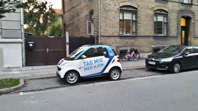 En lille vogn - spottet på min vej.