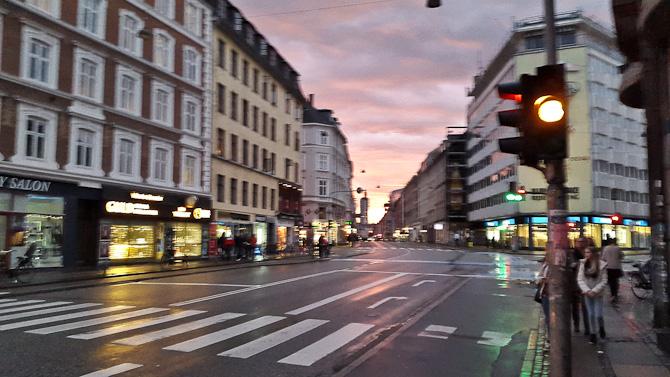 Der var flot lys over Vesterbrogade