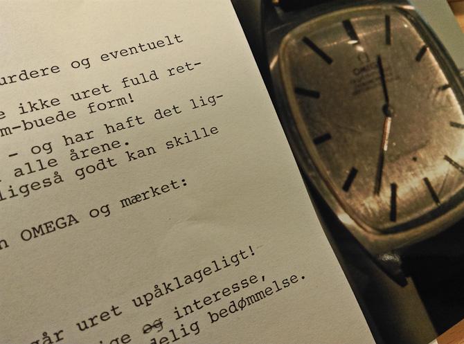 Jeg modtog en skrivelse, som var skabt på en skrivemaskine
