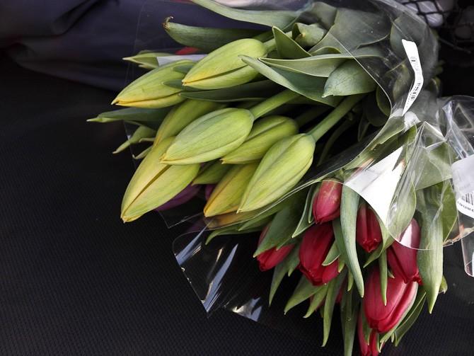 Vi havde blomster med til Jobse
