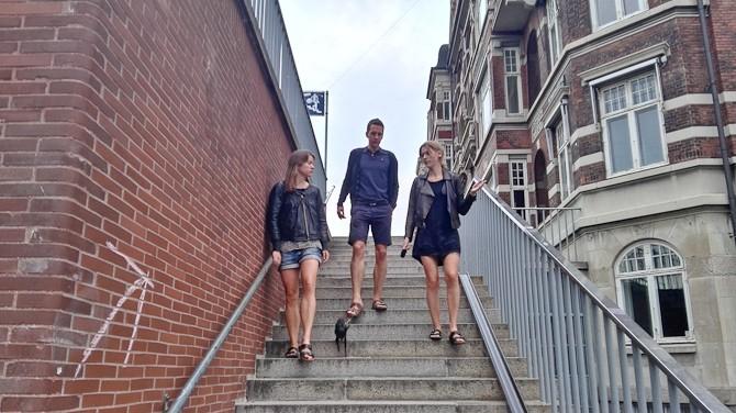 Søndag trio - og Ejnar. Det giver faktisk fire. Fem med mig.