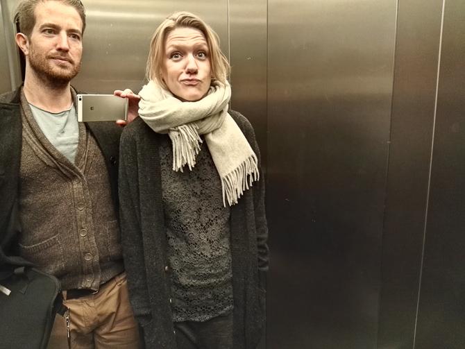 Efterår i en elevator