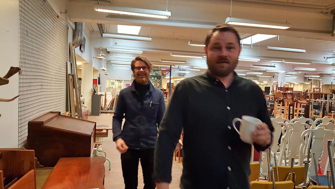 Anders og Thomas - på vej til casting