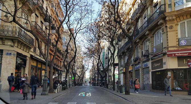 En vej i Valencia