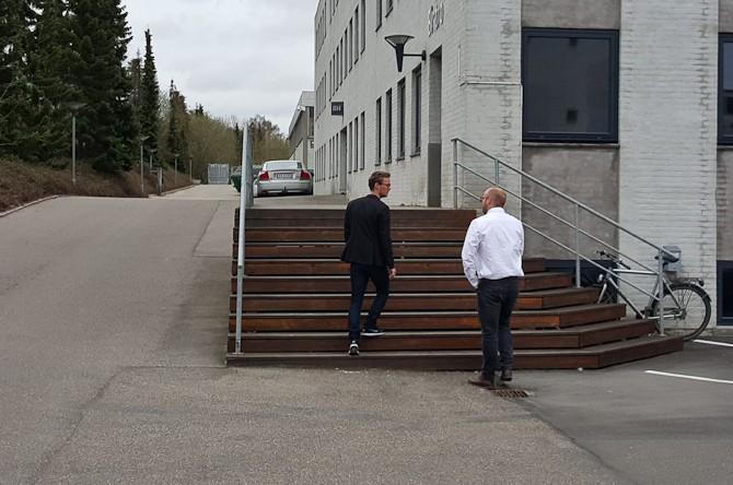 Mikkel & Johs på vej til audition...