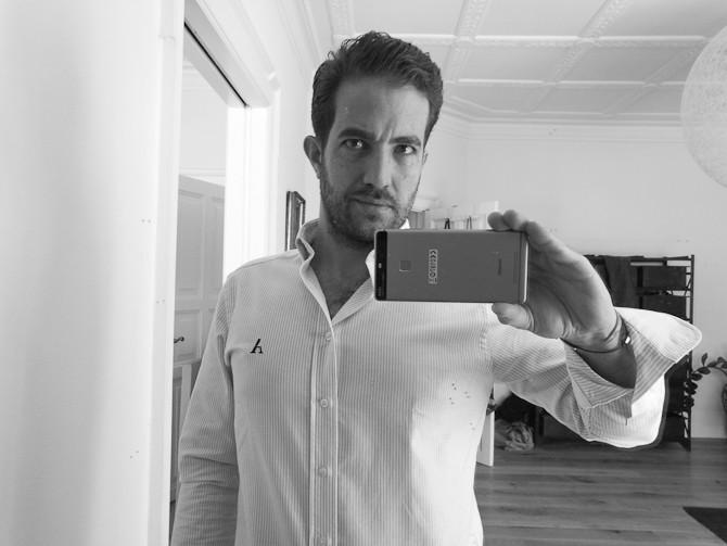 Sort-hvid-funktion med spejl