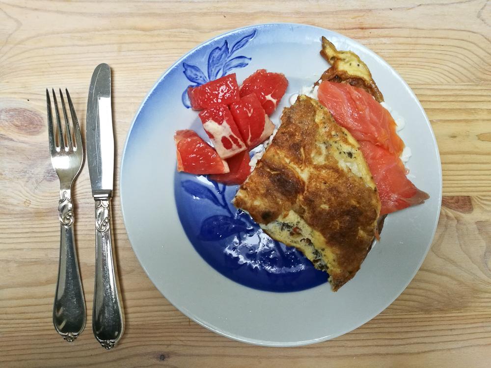 Sommerhus-omelet