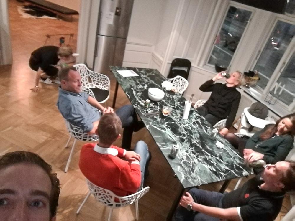Thomas, Gitte, Herv, Johan, Petrea, Amalie, Ferdinan og jeg